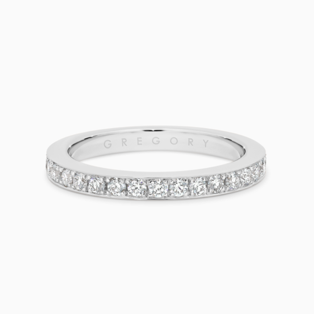 Fine Claw Set Diamond Band