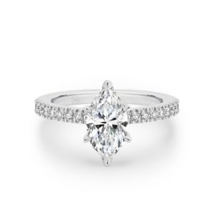Marquise Cut Diamond Band Engagement Ring A2405