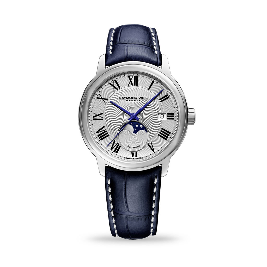 Raymond Weil Maestro Automatic 40mm Moonphase Blue Leather