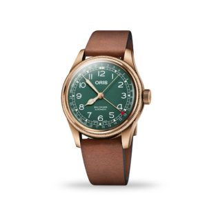 Oris Big Crown Pointer 40mm Green Dial Leather Strap