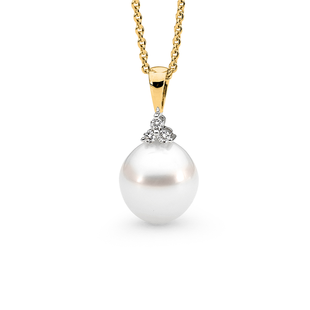 Allure South Sea Pearl & Diamond Trio Pendant