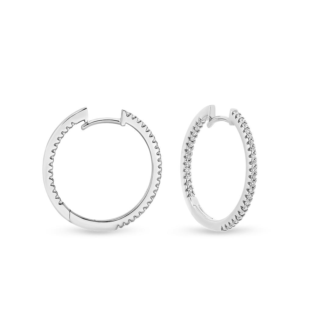 Classic Diamond Hoop Earrings