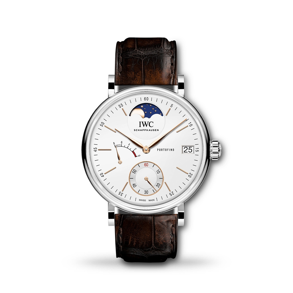 IWC Portofino Hand Wound Moon Phase 44mm Leather