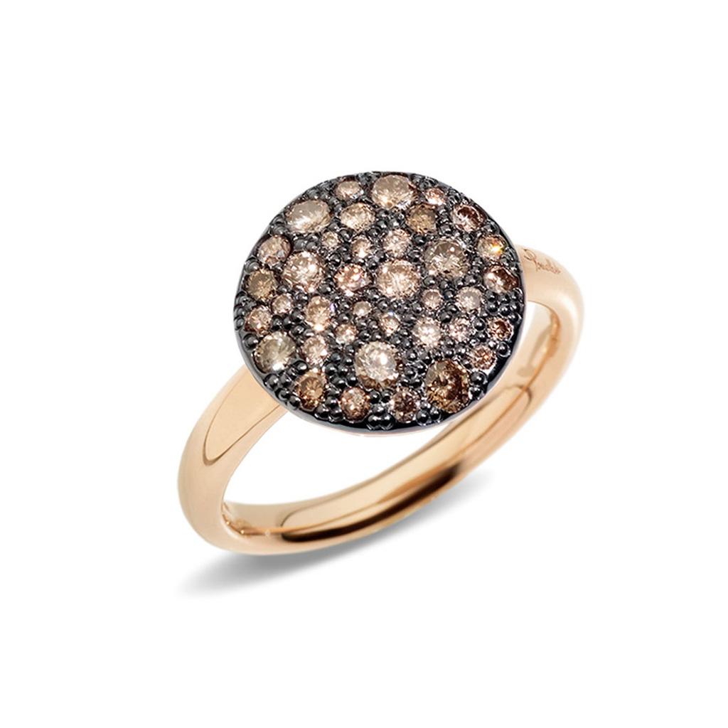 Pomellato Sabbia Ring Brown Diamonds