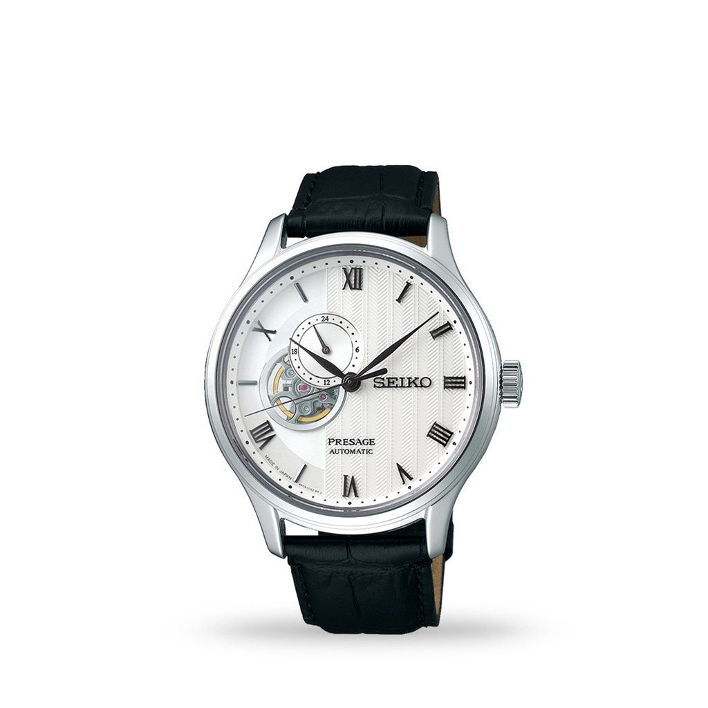 Seiko Presage Automatic 42mm White Dial Leather Strap