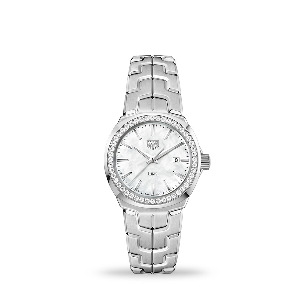 TAG HEUER Link Quartz 32mm mother-of-pearl Diamond Dial Bracelet