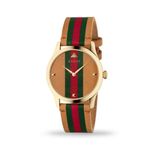 Gucci G-Timeless 38mm Leather Strap