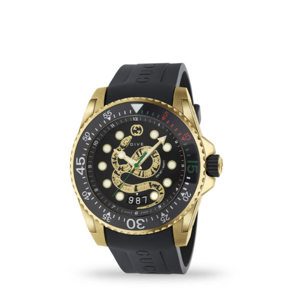 Gucci Dive 45mm Rubber Strap