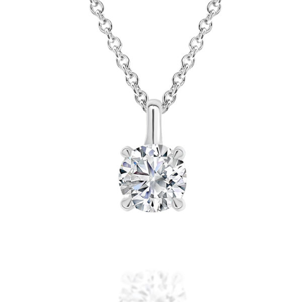 Gregory Classic Diamond Pendant K26P 0.70ct White Gold