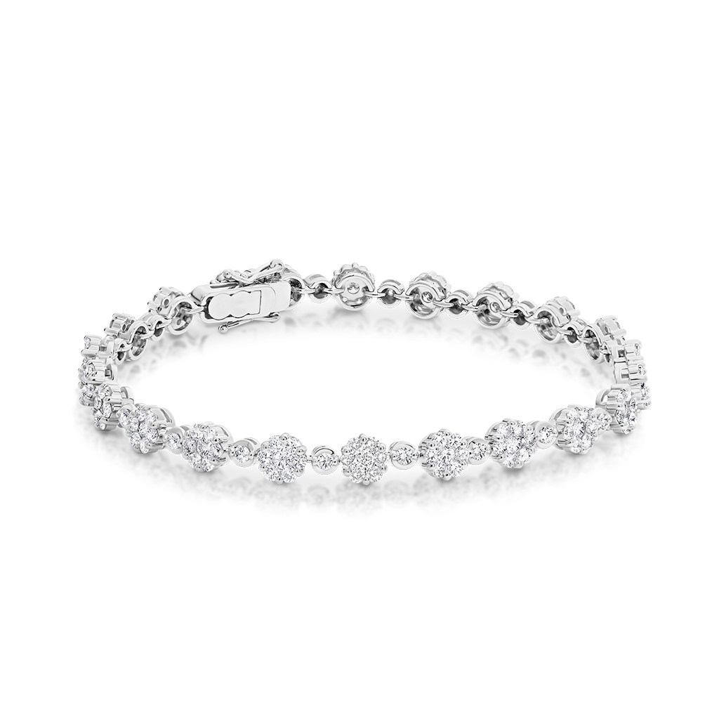 3.90ct Cluster Diamond Bracelet