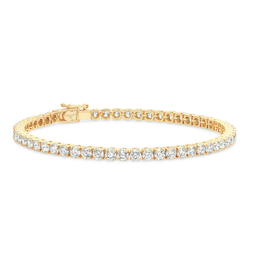 Yellow Gold Diamond Tennis Bracelet 6ct. Model: TTTB004-YG