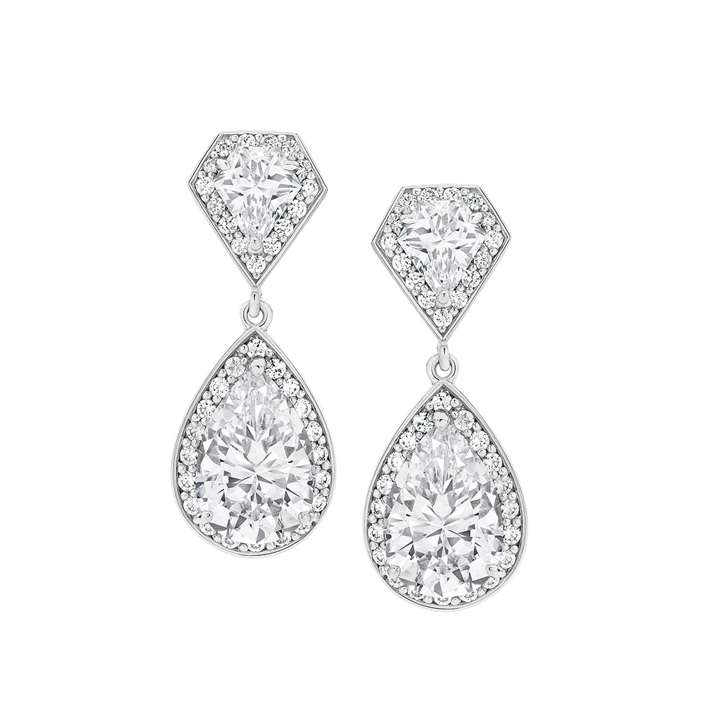 Anastasia Fancy Halo Cubic Zirconia Earrings
