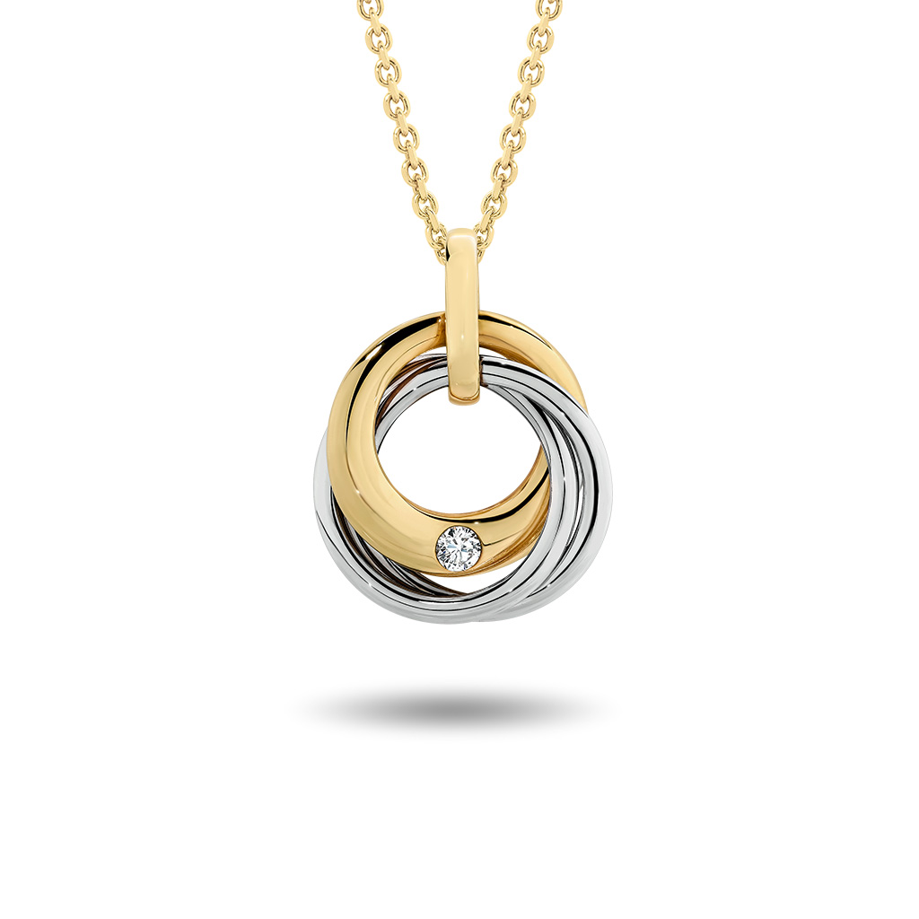 Grand Three Circle Diamond Pendant