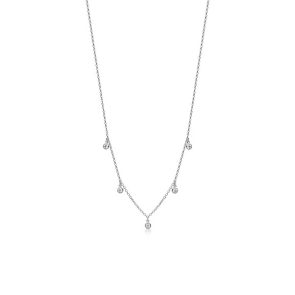 Nialaya Skyfall Drop Necklace Silver