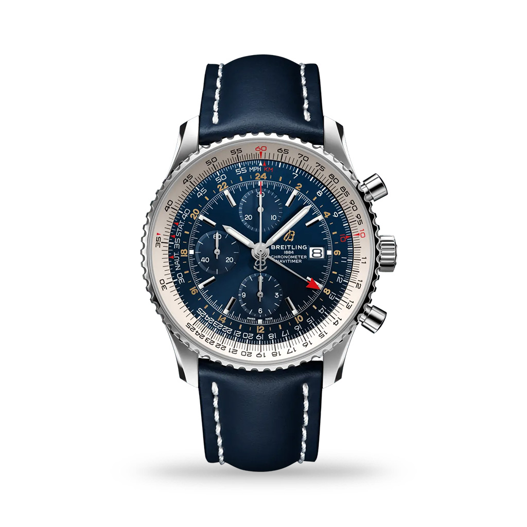 Breitling Navitimer Chronograph GMT 46mm Leather