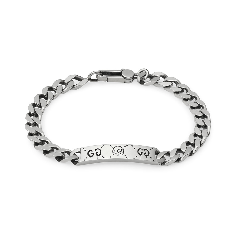 Gucci Ghost Chain Silver Bracelet