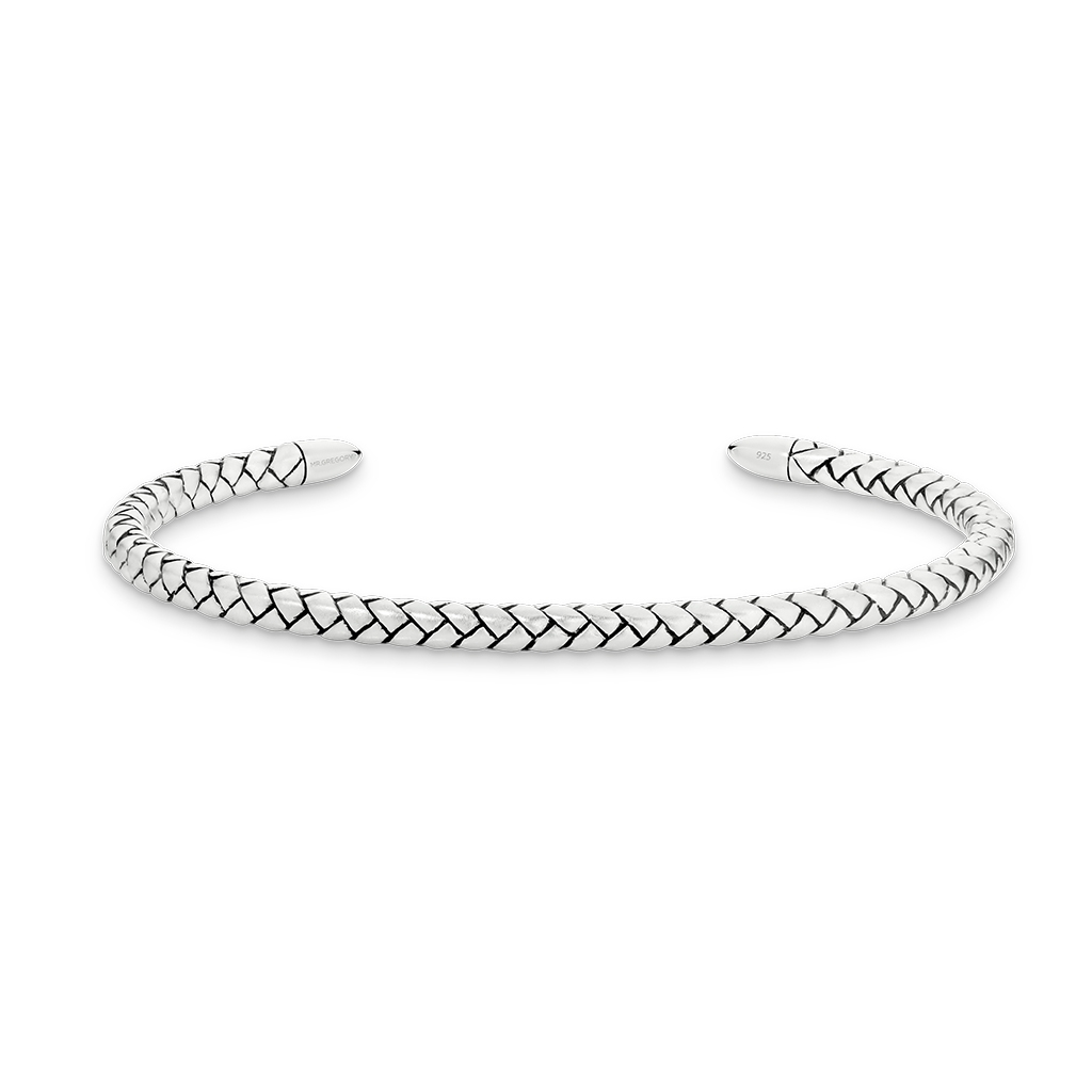 Sterling Silver Chevron Slim Cuff