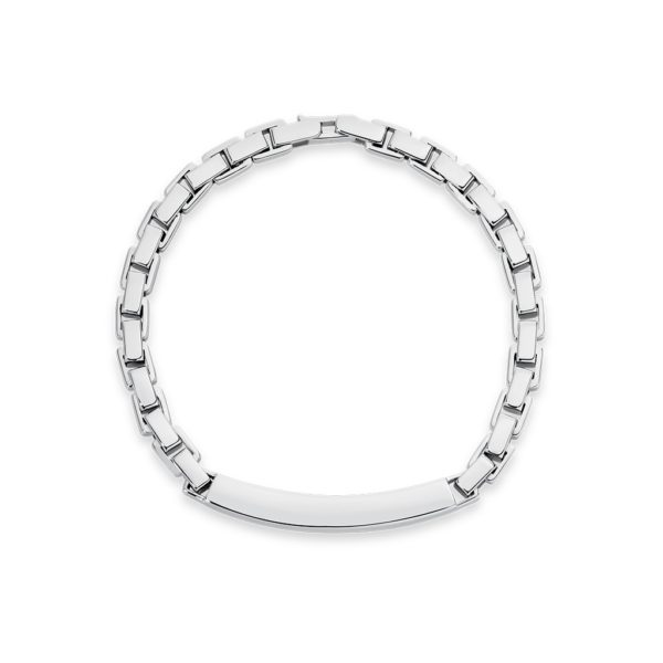 Mr Gregory Sterling Silver ID Bracelet | MRG-BR3-21CM