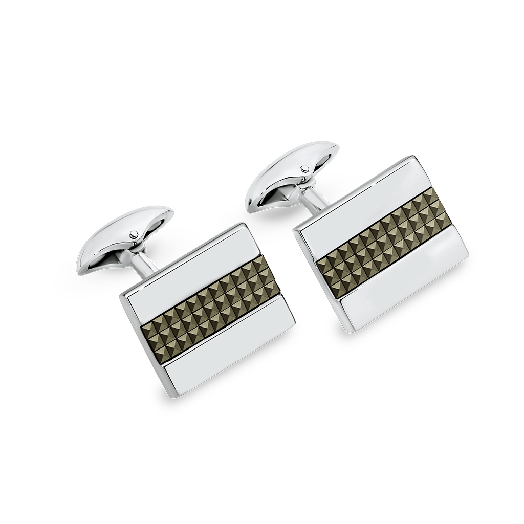 Sterling Silver Marcasite Cuff Links