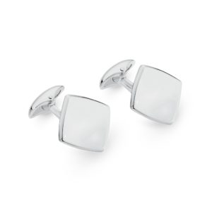 Mr Gregory Sterling Silver Square Disc Cuff Links | MRG CL17