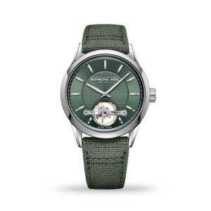 Raymond Weil Freelancer Green Dial, textile strap, Mens watch