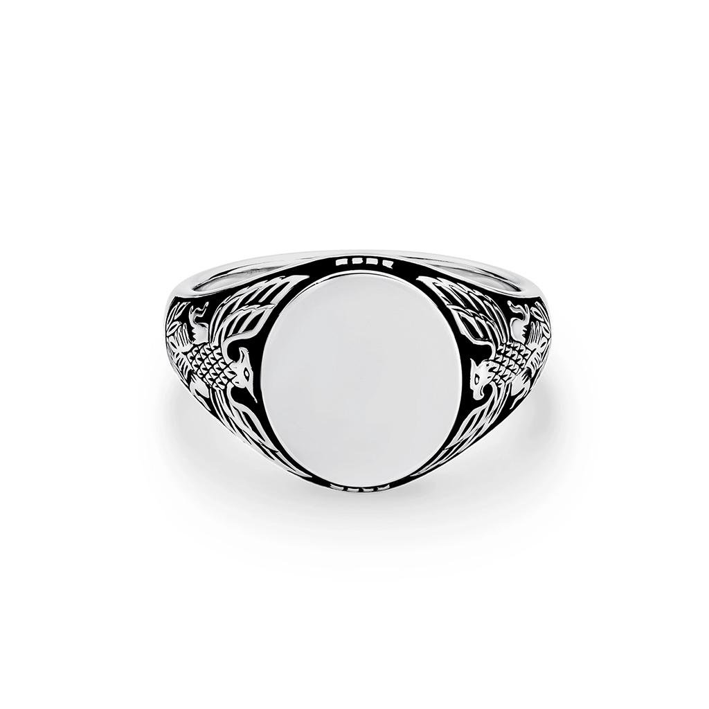 Sterling Silver Eagle Signet Ring