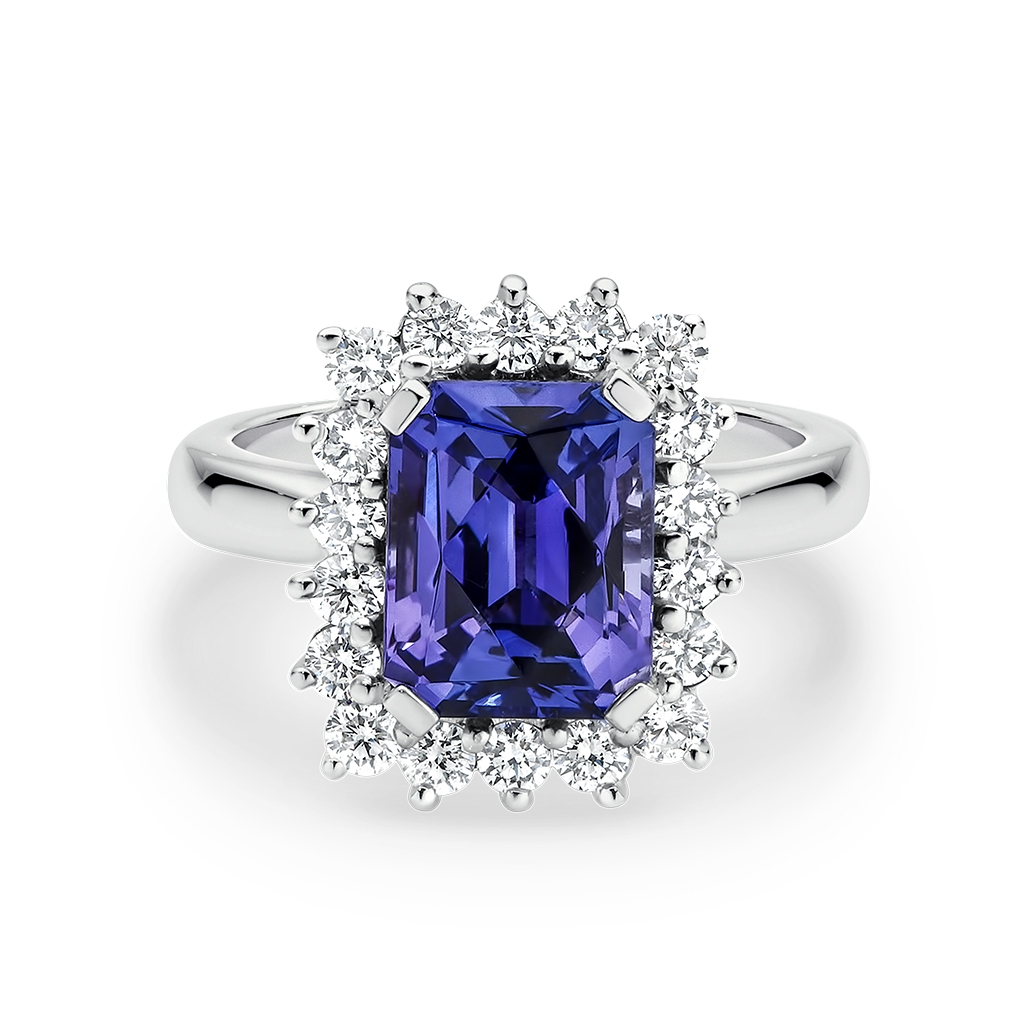 Icon Tanzanite and Diamond Cluster Ring