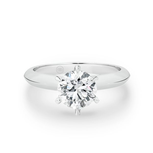 Timeless Solitaire Round Brilliant Diamond Engagement Ring A1746 1.00ct Classic