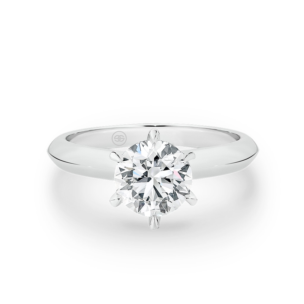 1.00ct Round Brilliant Solitaire Diamond Engagement Ring