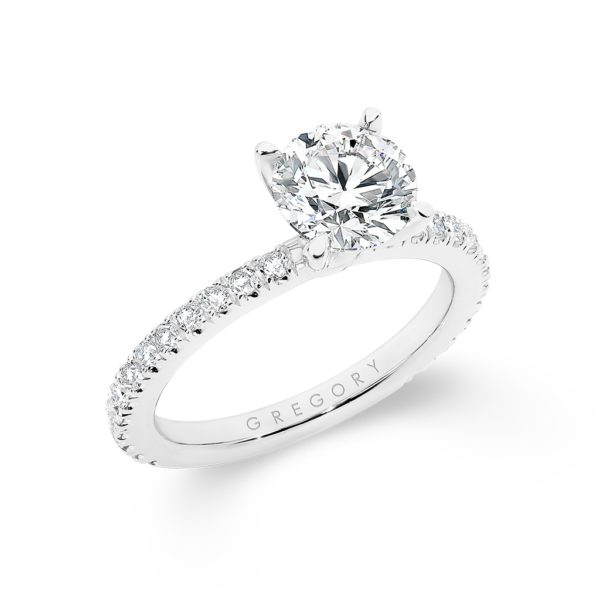 Round Brilliant Diamond Band Engagement Ring A2271