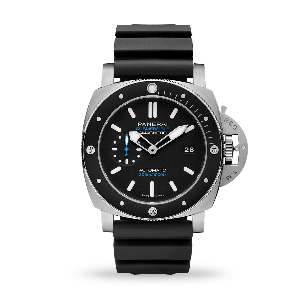 Panerai Submersible Amagnetic 47mm Caoutchouc Black Strap