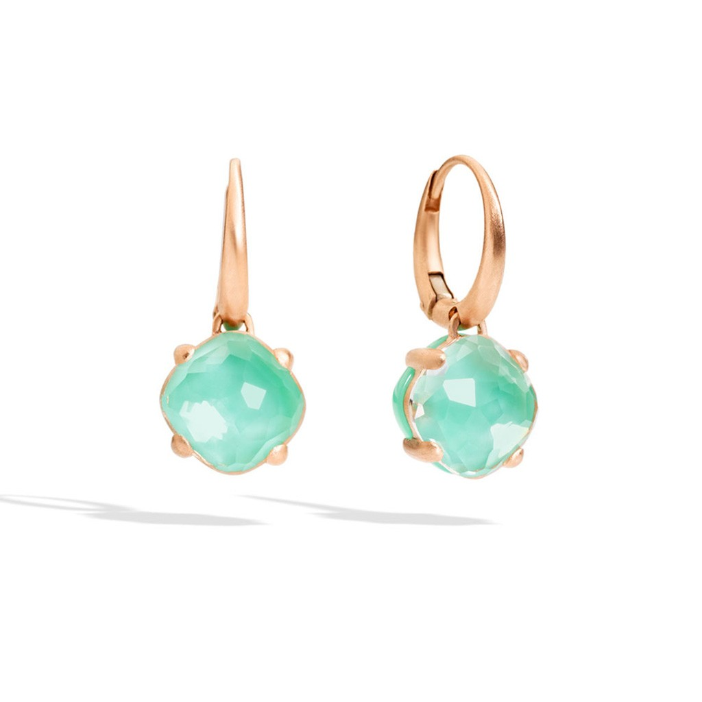 Pomellato Capri Chrysoprase & Rock Crystal Earrings