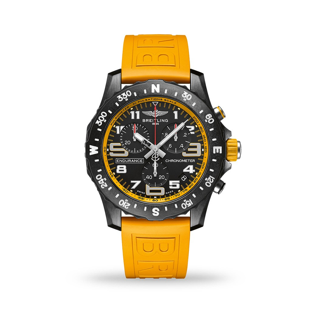 Breitling Endurance Pro SuperQuartz™ Breitlight® 44mm Yellow Rubber Strap