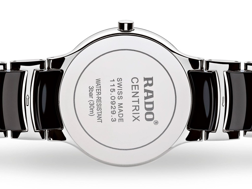 RADO Centrix Diamonds Watch. Model: R30934712 - Back