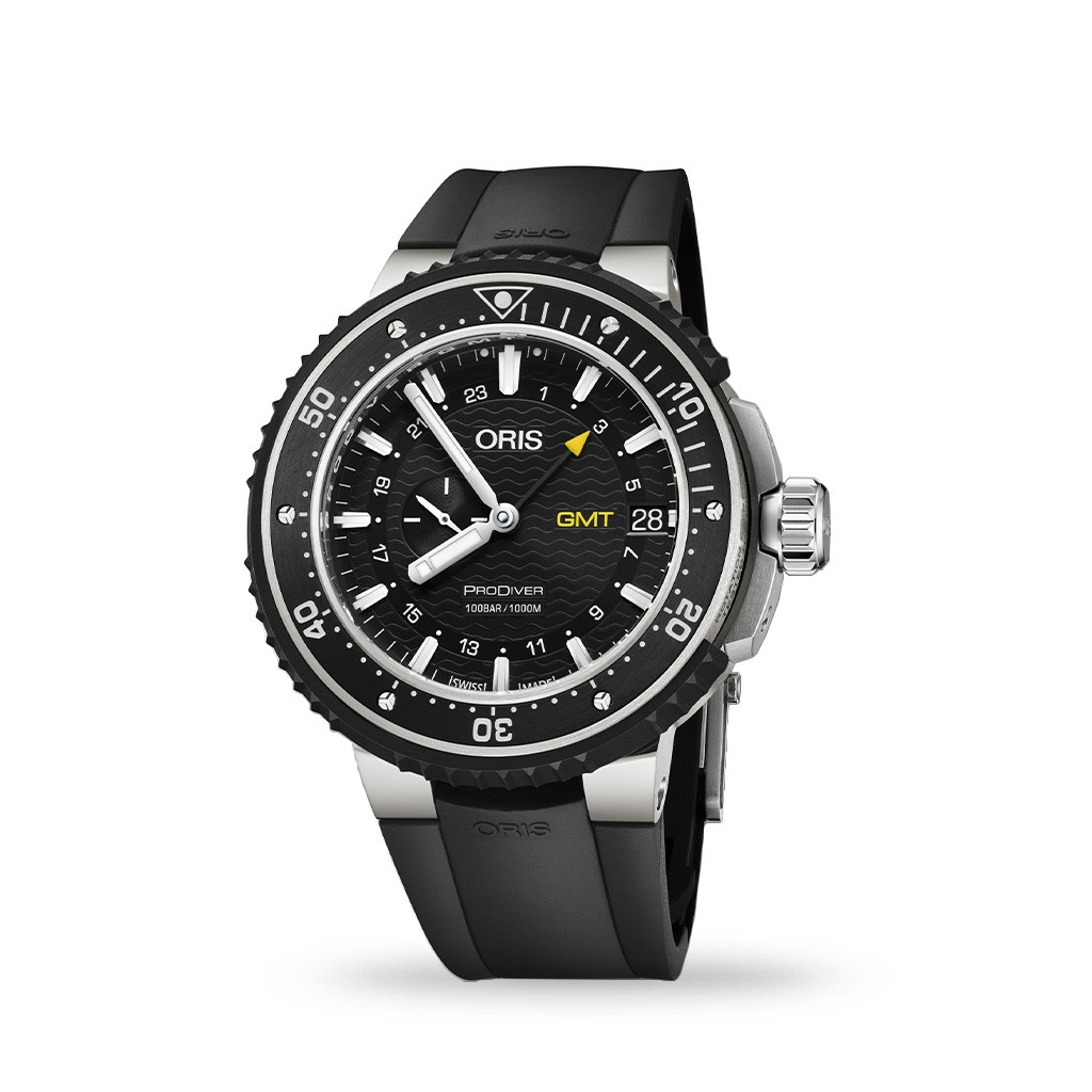 Oris ProDiver GMT Automatic 49mm Black Dial Rubber Strap
