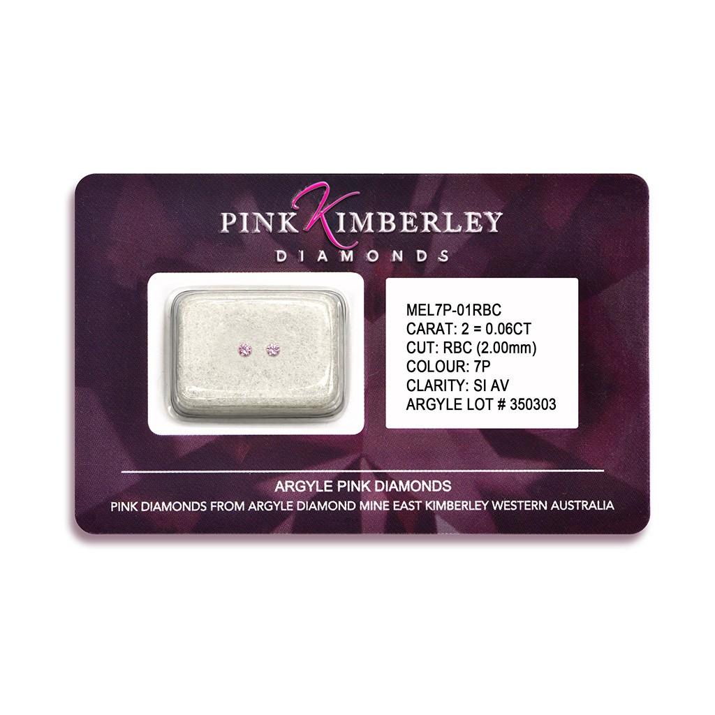 Loose Argyle Pink Diamonds Seal 2=0.06ct 7P/SIAV