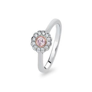 Kimberley White & Argyle Pink Diamond Delliah Ring | PKD-RDDPB0106