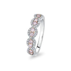 Kimberley White & Argyle Pink Diamond Rinalla Ring | PKR-RDNTB0107