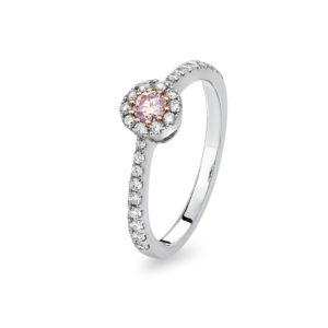 Kimberley White & Argyle Pink Diamond Lucille Ring | PKR-RDSSB1305