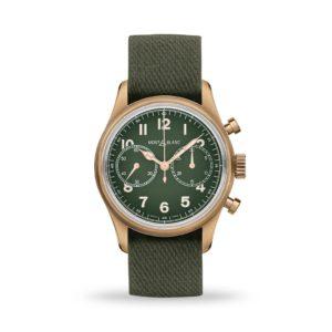 Montblanc 1858 Automatic Chronograph Limited Edition 42mm Khaki Green Nato | Model# 119908