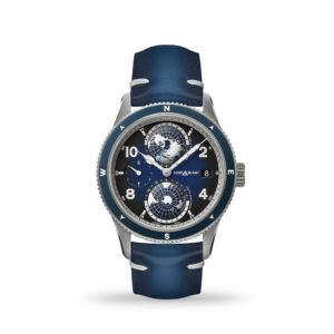 Montblanc 1858 Geosphere Automatic Blue Dial 42mm Blue Leather | Model# 125565