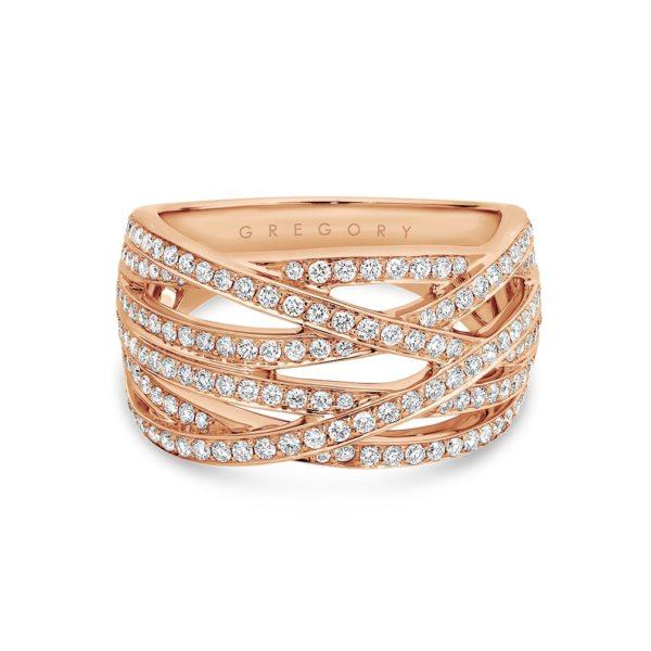 Grand Fancy Crossover Diamond Dress Ring - TR3235-0-RG