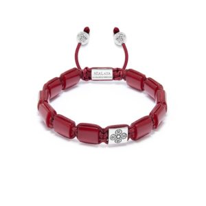 Nialaya The Dorje Flatbead Collection - Red Jade and Silver MLUXPL_113