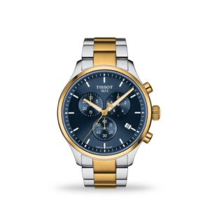 Tissot Chrono XL Classic 45mm, Stainless steel case with yellow gold PVD coating with stainless steel bracelet T1166172204100