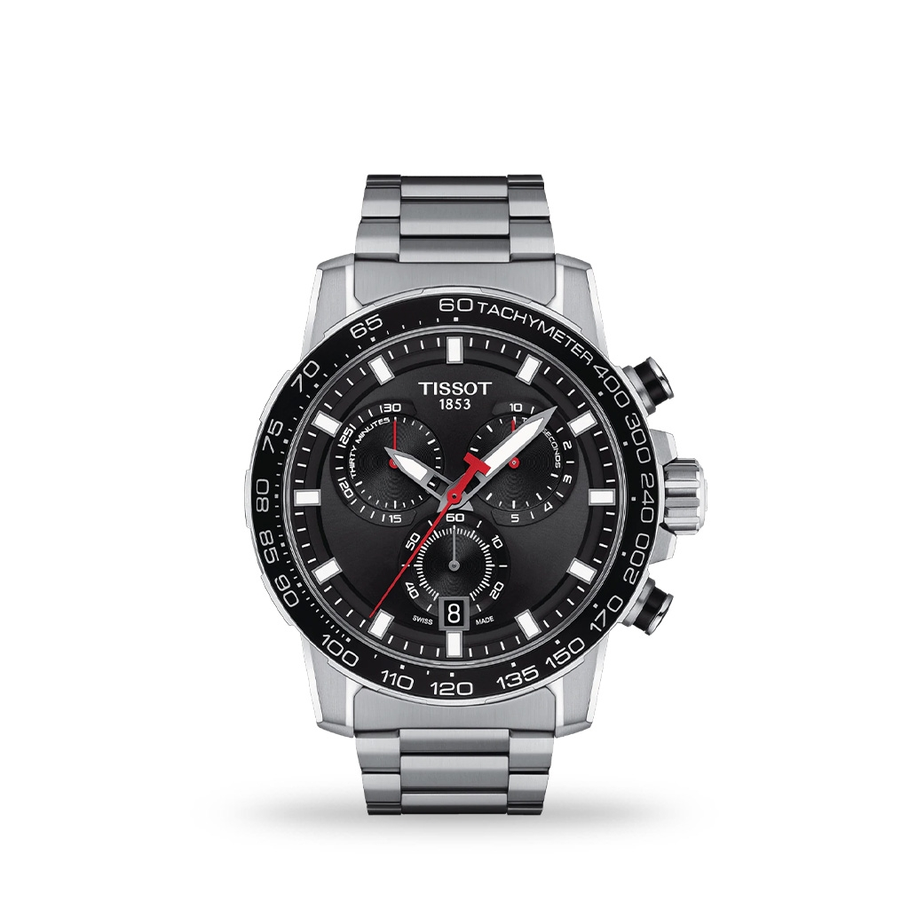 Tissot Supersport Chrono 45mm Black Dial Stainless Steel Bracelet