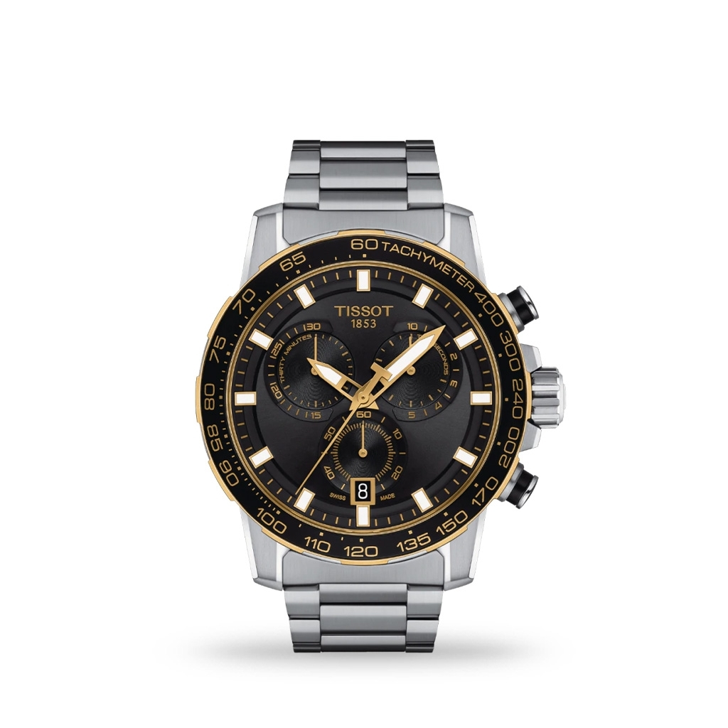 Tissot Supersport Chrono Quartz 45mm Stainless Steel Bracelet