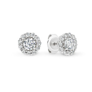 Leyla Rose Faith Cubic Zirconia Round Small Halo Stud Earrings LR ES39 Earrings