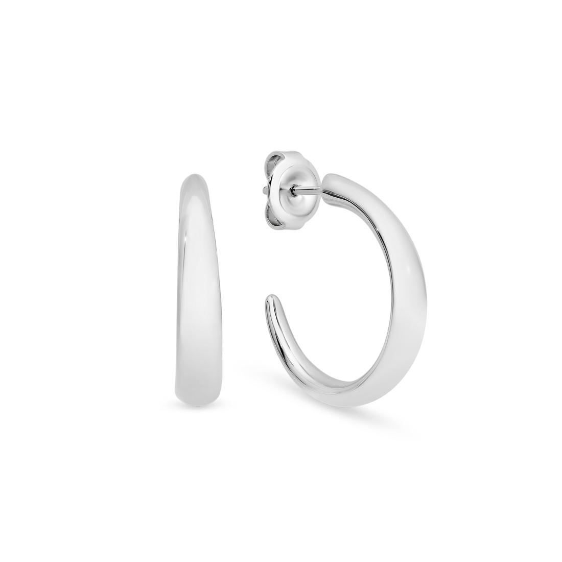 Felicia Silver Hoop Earrings – Medium