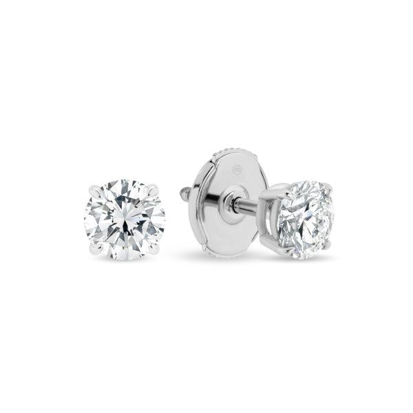 Gregory Classic Earrings 0.10ct White Gold - K26-0.10 WG