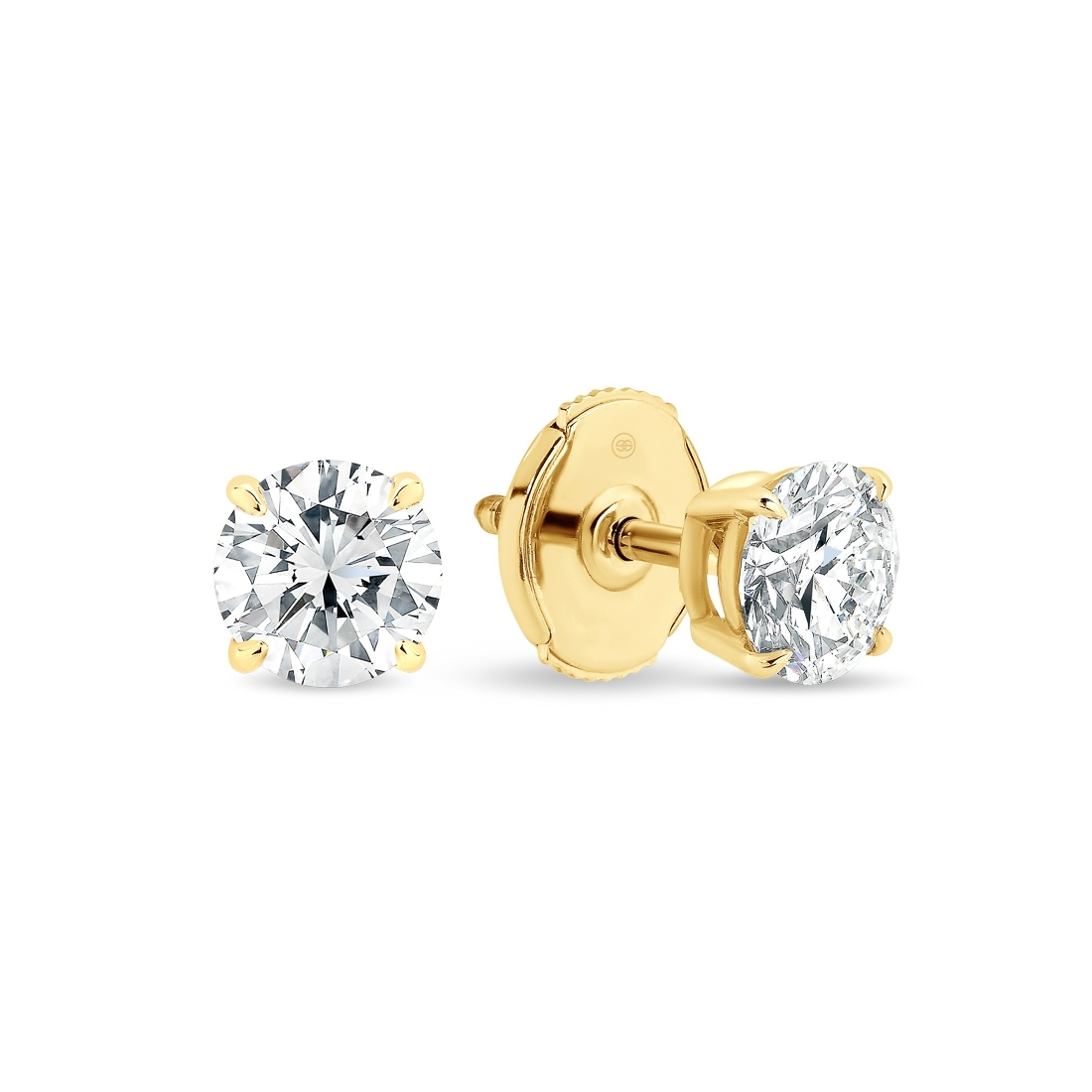 Gregory Classic Earrings 0.20ct Yellow Gold - K26-0.20 YG
